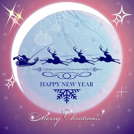 Purple Christmas card 版權商用圖片 - 86819493