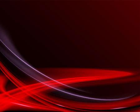 Dark calm backdrop with red laser lights. Illustration