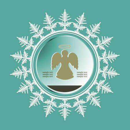 Christmas emblem design. Vector Illustration