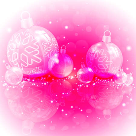 Christmas design of red, maminated with shiny balls 向量圖像