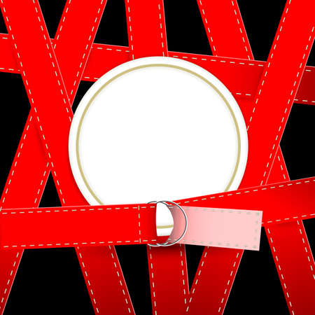 silhouette of round frame bound belts Stock Photo