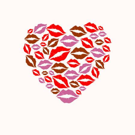 립 실루엣 디자인 세트에서 가져온 모양의 심장 일러스트