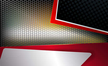 Geometric background, mesh, metal grille with corners, frames