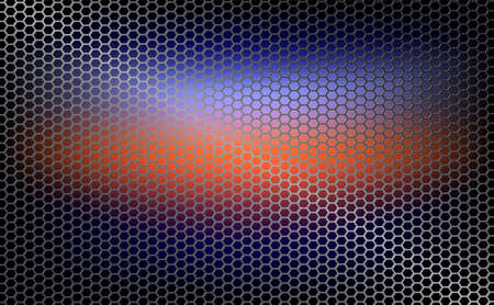 Geometric background, mesh, metal grille with orange tint Ilustrace
