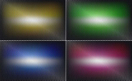 geometric background, mesh, metal grille, different shades, set