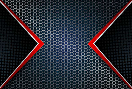 abstract geometric background, grid, metal grille with red arrows