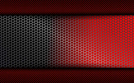 geometric background with metal grille