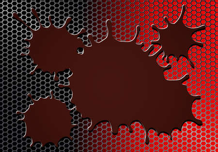 geometric dark red background with metal grille