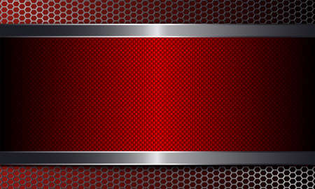 Geometric background with metal grill and frame. Ilustrace