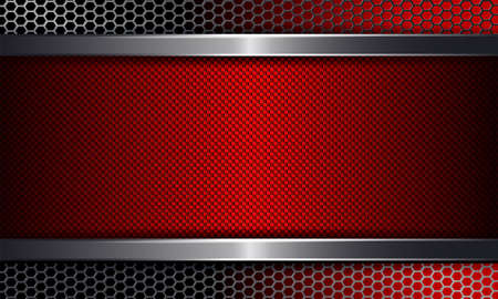 Geometric background with a red frame.