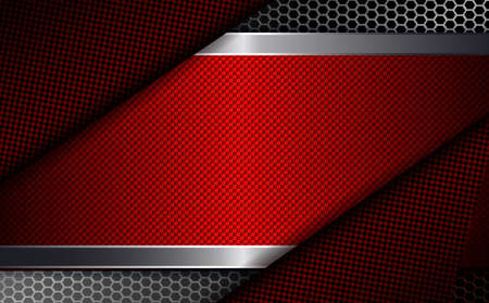 Geometric background with a rectangular red frame and dark corners.