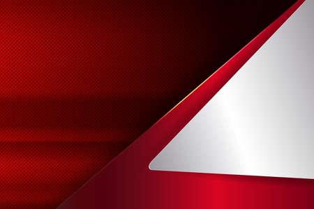 Geometric red background with white corner. Vettoriali