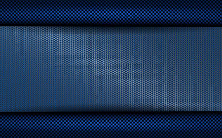 Geometric blue background with metal grille and with dark rippled rims.