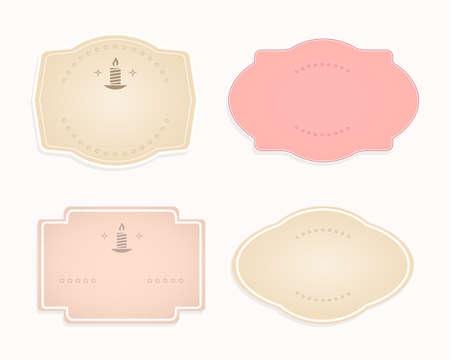 Frame oval-shaped pink, beige transparent hue, design element,