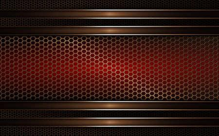 Geometric mesh background of dark red, golden hue.