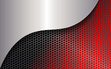 Geometric red mesh background with frame. Vector illustration.