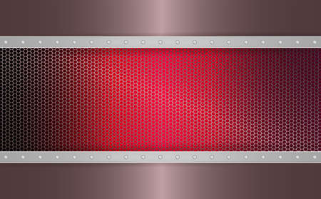 Geometric abstract dark pink mesh background with stripes of metallic hue and bolts.