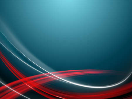 Blue background with smooth red and white stripes. Фото со стока - 100758835