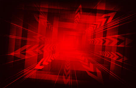 Geometric red background with arrows. Фото со стока - 100953595