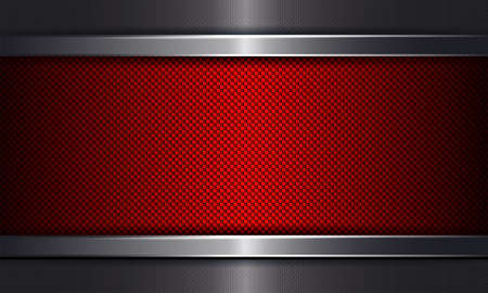Geometric rippled background with a red frame.