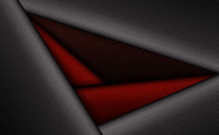Geometric background with rippled red in black frame. Иллюстрация