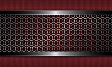 Geometrical abstract rippled background with a rectangular frame like a metal grille.