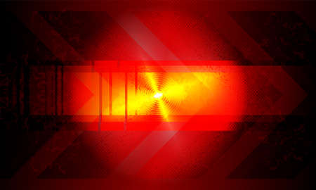 Dark red rippled background with bright glitter and silhouette of arrows. Иллюстрация