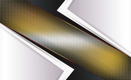 Geometric yellow background with a mesh frame and frames of white hue with arrows.
