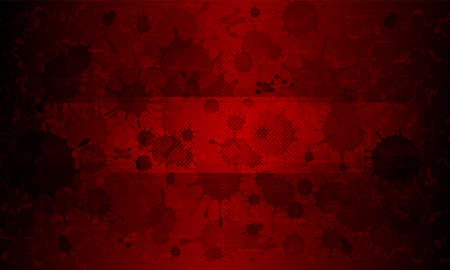 Dark red rippled background with and silhouette of a set of blurred spots, blot.