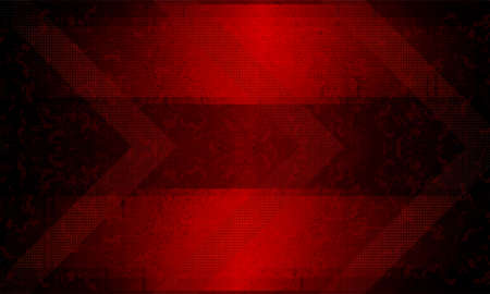 Dark red rippled background with arrows and silhouettes of blurred spots.