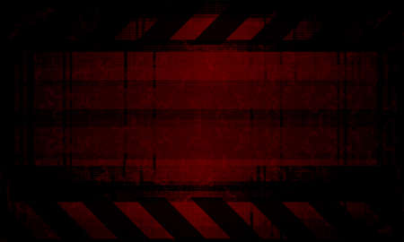 Dark red rippled background with silhouettes of blurred spots and stripes.