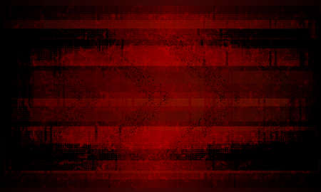 Dark red rippled background with silhouettes of blurred spots and arrows.