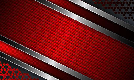 Geometrical abstract dark red ribbed background. Illustration