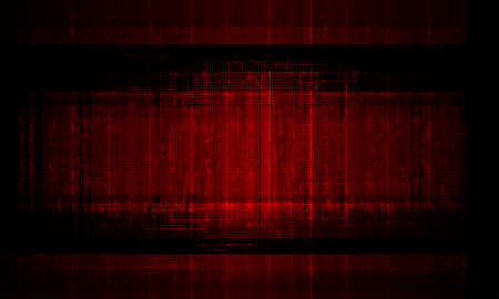 Composition of dark red background with silhouettes of skin boards, billboard.