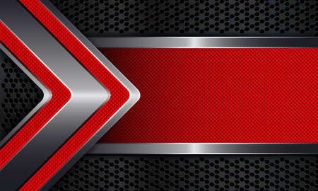 Geometric abstract background with a frame of a red knurled arrow.
