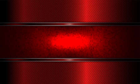 Geometric abstract bright textured red background with frame and red with glitter edging. Иллюстрация