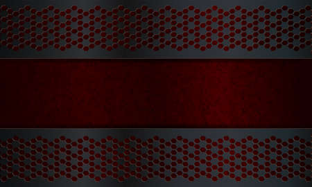 Geometric abstract dark red background with spots like camouflage with gray bars. Иллюстрация