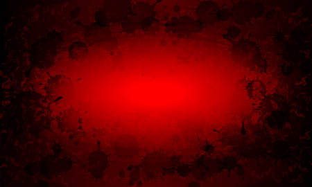 Red abstract textural background with silhouette set of blots, blots. 向量圖像