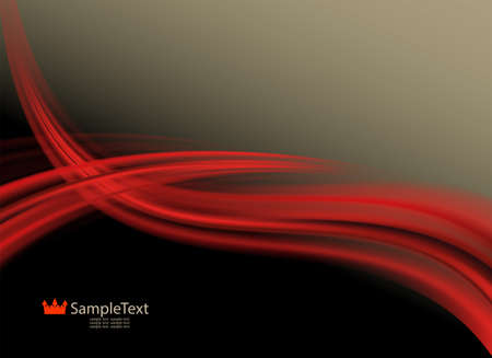Abstract design of warm shades with smooth red stripes.