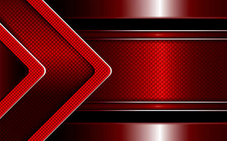 Geometric abstract red background with textured arrow and border with edging.