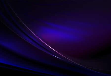 Elegant abstract dark background of blue hue with smooth stripes and gentle shine.