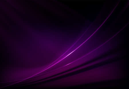 Dark abstract purple background with smooth gentle lines with glitter. Illustration