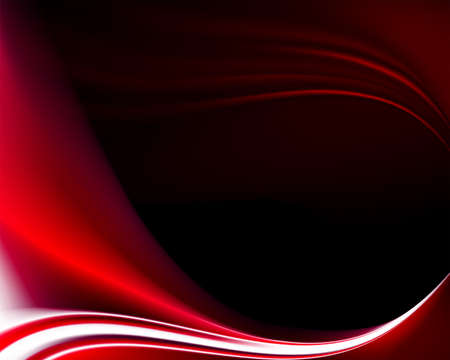 Dark abstract background with red and white smooth gentle lines.