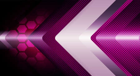 Geometric abstract purple textural background with arrows and with a silhouette of a grating.