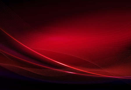 Red abstract dark background with smooth thin lines and a gentle veil.