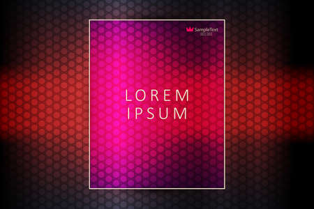 Red dark geometric background with lattice silhouette and frame with text. 일러스트