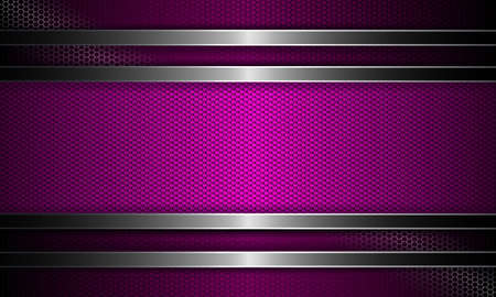 Geometric abstract textural design with a purple hue curly frame.