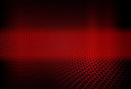 Red dark abstract geometric design with lattice silhouette. 일러스트