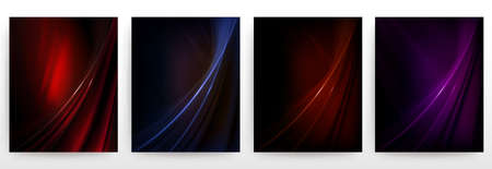 Abstract dark wavy elegant, delicate background set. Фото со стока - 124717723