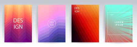 Geometric background, colorful halftone gradients, set, patterns, Иллюстрация
